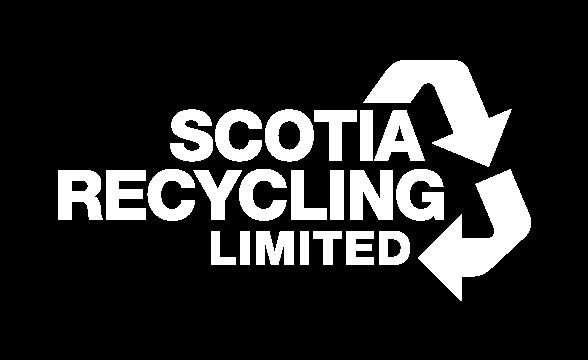 Scotia Recycling Logo White